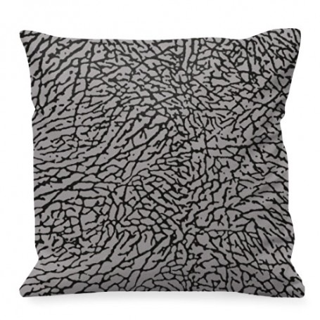 Elephant Print Square Cushion | La Sneakerie