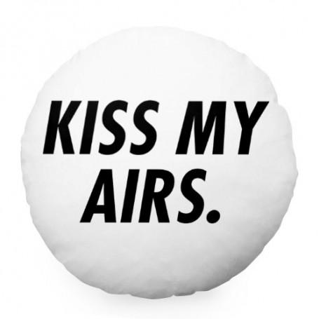 KISS MY AIRS Round Cushion | La Sneakerie