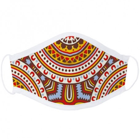Masque Ergonomique Inspiration MCR Tissu Wax | La Sneakerie