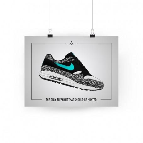 Air Max 1 Atmos Elephant Poster | La Sneakerie