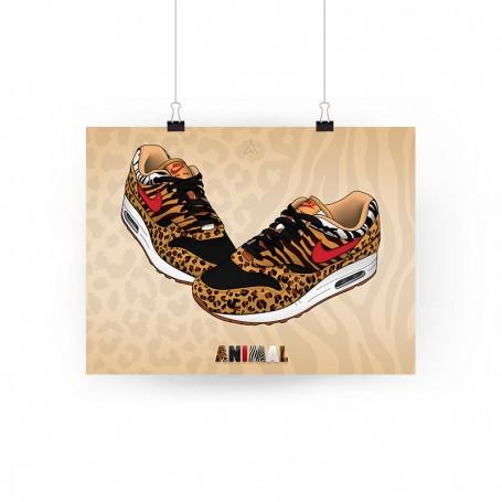 Air Max 1 Animal Poster   La Sneakerie