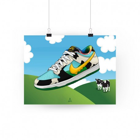 SB Dunk Low Chunky Dunky Poster | La Sneakerie