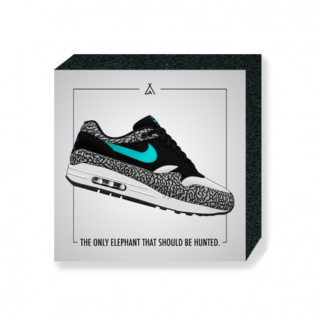 Air Max 1 Atmos Elephant Square Print | La Sneakerie