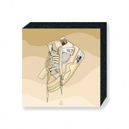 Air Jordan 4 Off White Square Print   La Sneakerie