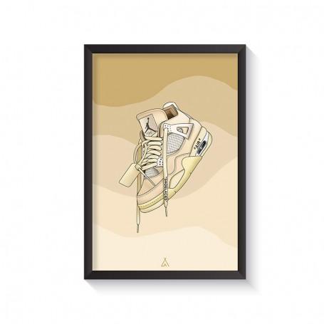 Air Jordan 4 Off White Frame | La Sneakerie