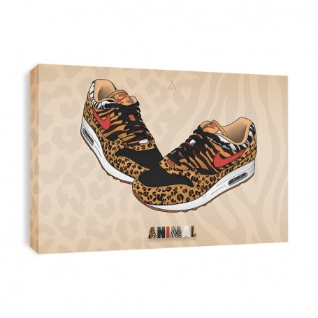 Air Max 1 Animal Canvas Print | La Sneakerie
