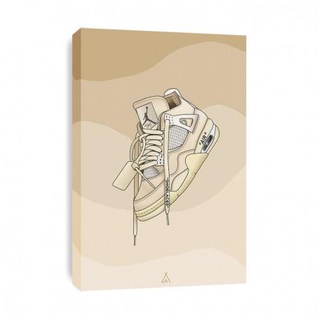 Air Jordan 4 Off White Canvas Print | La Sneakerie