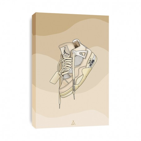 Leinwand Air Jordan 4 Off White | La Sneakerie