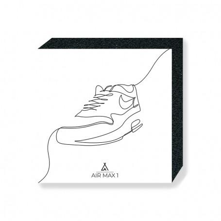 Wandbild Bloc Air Max 1 One Line   La Sneakerie