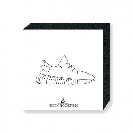 Wandbild Bloc Yeezy Boost 350 One Line | La Sneakerie
