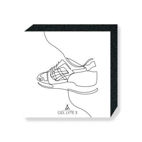 Wandbild Bloc Gel-Lyte III One Line | La Sneakerie