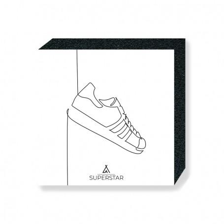 One Line Superstar Square Print | La Sneakerie