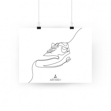 One Line Air Max 1 Poster | La Sneakerie