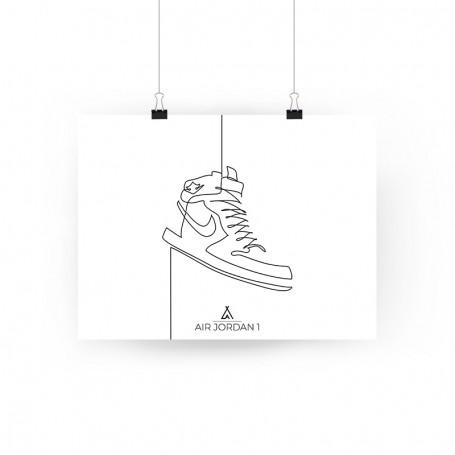 One Line Air Jordan 1 Poster | La Sneakerie