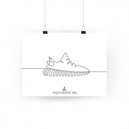 One Line Yeezy Boost 350 Poster | La Sneakerie