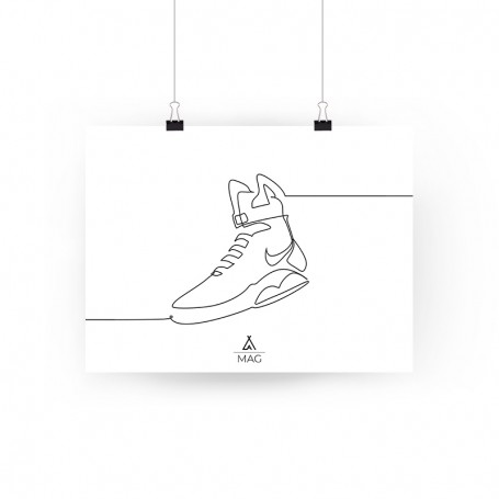 One Line MAG Poster | La Sneakerie
