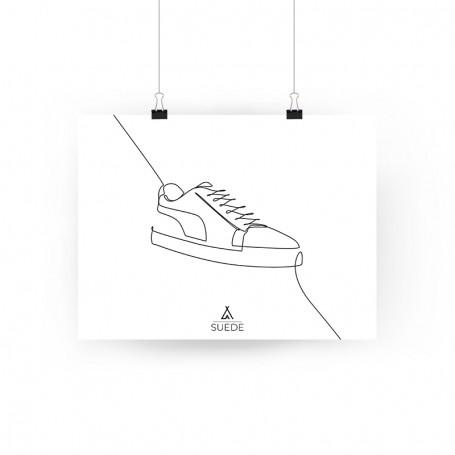 Poster Puma Suede One Line   La Sneakerie