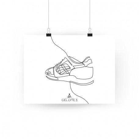 One Line Gel-Lyte III Poster | La Sneakerie