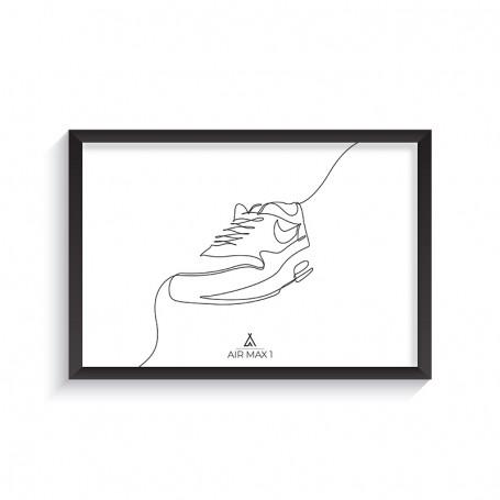 Cadre Air Max 1 One Line | La Sneakerie