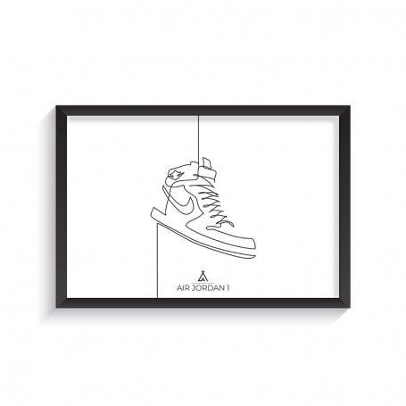 One Line Air Jordan 1 Frame | La Sneakerie