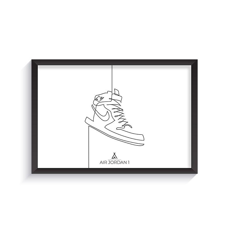 One Line Air Jordan 1 Frame
