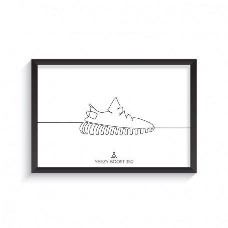 One Line Yeezy Boost 350 Frame | La Sneakerie
