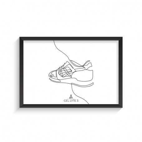 One Line Gel-Lyte III Frame | La Sneakerie