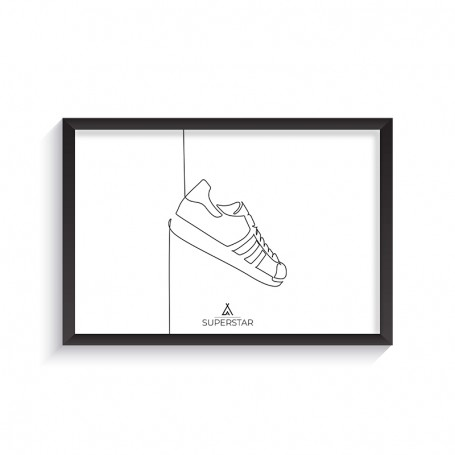 One Line Superstar Frame | La Sneakerie