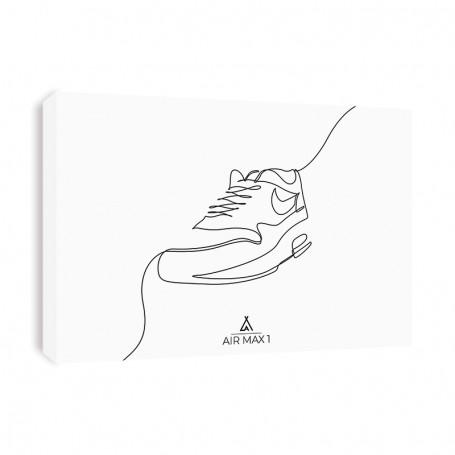 One Line Air Max 1 Canvas Print | La Sneakerie