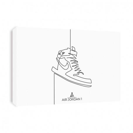 One Line Air Jordan 1 Canvas Print | La Sneakerie