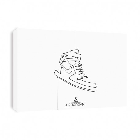 Tableau Air Jordan 1 One Line | La Sneakerie