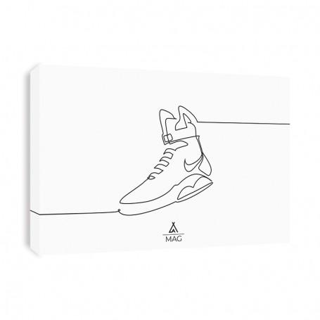 One Line MAG Canvas Print | La Sneakerie