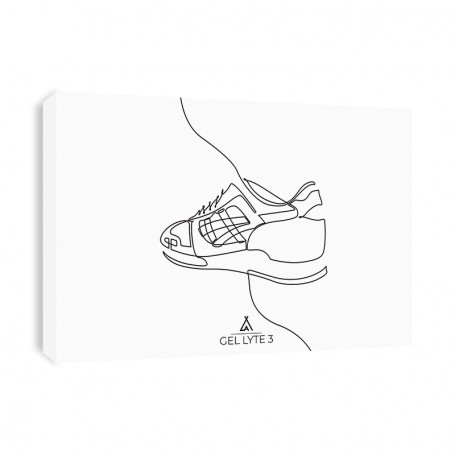 One Line Gel Lyte III Canvas Print | La Sneakerie