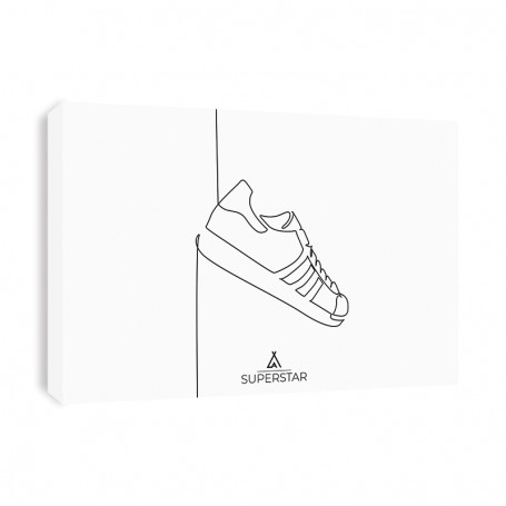 Tableau Superstar One Line | La Sneakerie