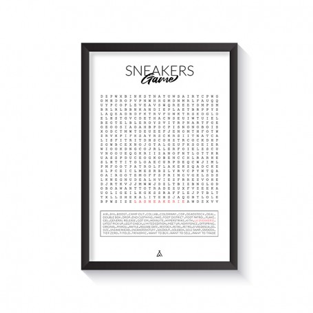 Mixed Words Frame | La Sneakerie