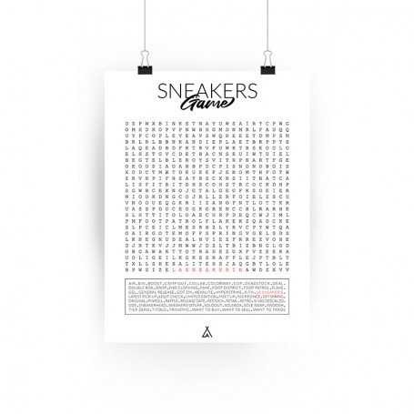 Poster Mots Mêlés | La Sneakerie