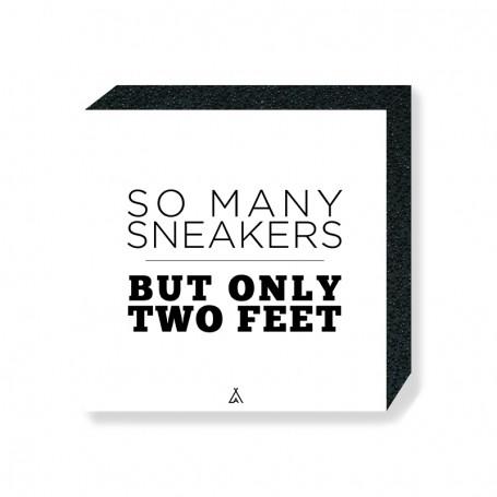 Wandbild Bloc So many sneakers but only two feet | La Sneakerie