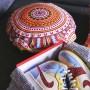 Runde Kissen MCR Tissu Wax | La Sneakerie