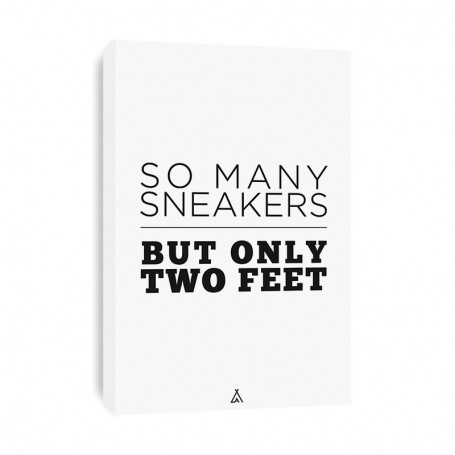 So Many Sneakers But Only Two Feet Canvas Print | La Sneakerie