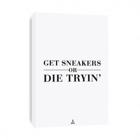 Get Sneakers Or Die Tryin' Canvas Print | La Sneakerie