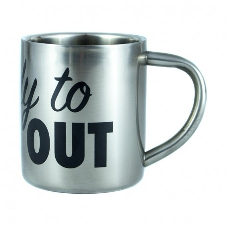 « Ready to camp out » Stainless Steel mug - LA SNEAKERIE