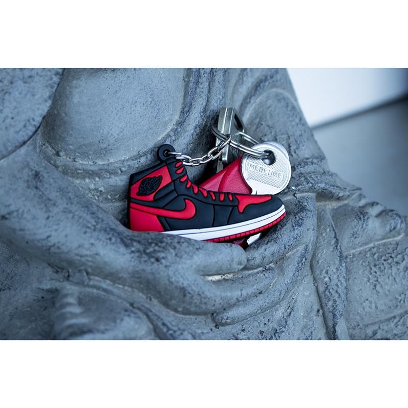 7030a4a50a Air Jordan 1 Bred Silicone Keychain - LA SNEAKERIE