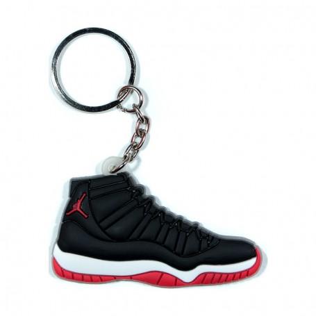 Air Jordan 11 Bred Silicone Keychain - LA SNEAKERIE