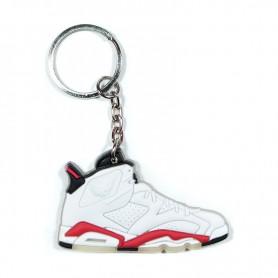 b63a05b7e81c Air Jordan 6 White Infrared Silicone Keychain