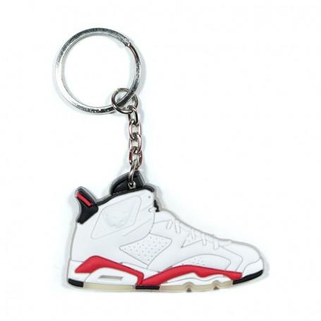 Air Jordan 6 White Infrared Silicone Keychain - LA SNEAKERIE