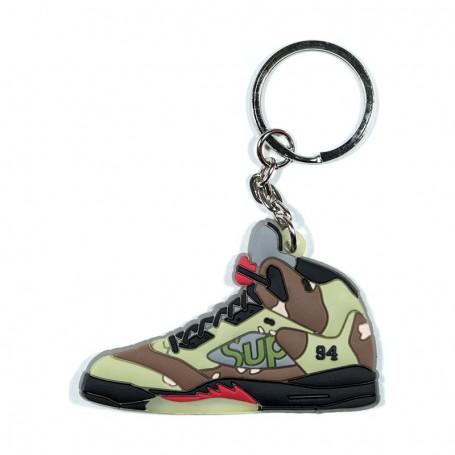 Air Jordan 5 Supreme Camo Silicone Keychain - LA SNEAKERIE