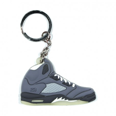 Air Jordan 5 Raging Bull Grey Silicone Keychain - LA SNEAKERIE