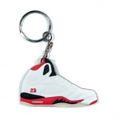 finest selection 7691d f27ae Air Jordan 5 Fire Red Silicone Keychain