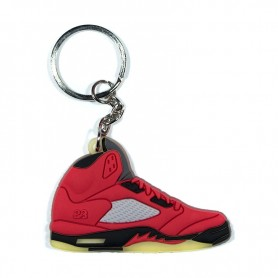 2f82a1fcacd9 Air Jordan 5 Raging Bull Red Silicone Keychain