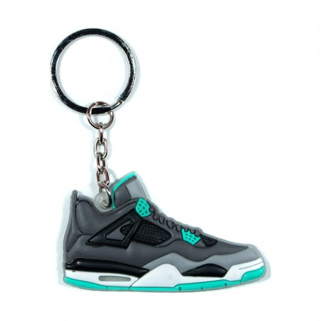 outlet store a27a3 5e5b4 Air Jordan 4 Green Glow Silicone Keychain